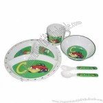 Personalized 5-Piece Children's Dinner Set
