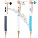 Personalized Colorful Crystal Metal Ballpoint Pen With Four-Leaf Clover