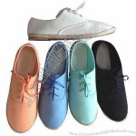 Personalized Espadrille Flat Canvas Shoes with Jute Sole