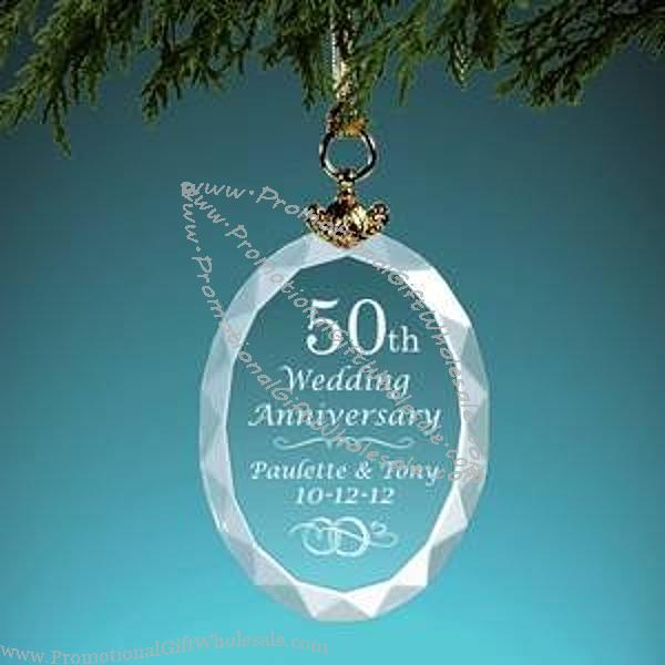 ... Christmas Personalized Wedding Anniversary Crystal Gift Ornament