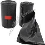 Pet waste bag dispenser refill, twenty bags per roll.