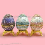 Pewter Easter Egg Jewelry Box with Diamond