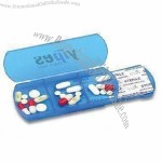 Pill Box with 3 Compartments and 1 Bandage Dispenser