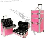 Pink Aluminum Trolley Case