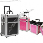 Pink Aluminum Trolley Makeup Cases