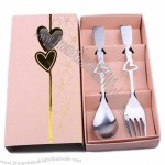 Pink Fork and Spoon Set