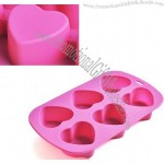 Pink Heart Shape Silicon Cake Mould Bakeware Mold