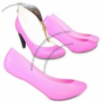 Pink Rubber Shoe Cover with Rounded Toe