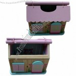 Pink Wooden Doll House For Kids