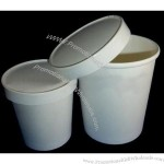 Plain White Soup Cups with Paper Lids