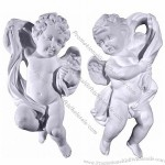 Plaster Cherub Plaque left right