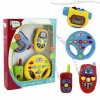Plastic Babies Toys Camera with Music Mobile Phone and Toy Steering Wheels