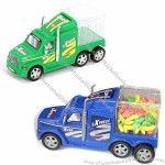 Plastic Construction Truck Toy with Candy Container