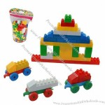 Plastic DIY, color block toys with 430pcs