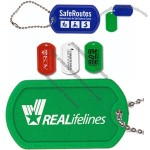 """Plastic Dog Tag with 4 1/2"""" Ball Chain"""