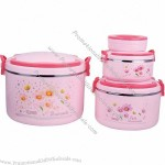 Plastic Food Warmer 4pcs set