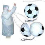 Plastic Football Poncho Balls with Keychain