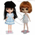Plastic Girl Doll, Safe and Nontoxic, Eco-friendly, Lovely and Comfortable