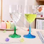 Plastic Goblets - Creative Wine Glasses Cup 4pc Pack