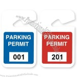 "Plastic Parking Permit 3"" x 5"""