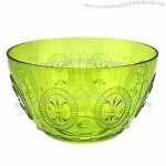 Plastic Salad Bowl, Made of PS with Embossed Pattern
