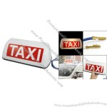 Plastic Shell 2 Wires Magnetic White Light Cab Sign Topper Roof Car Taxi Lamp