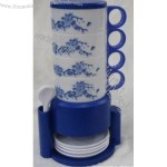 Plastic Travel Coffee Cup Set