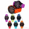 Plastic Watches with PU Leather Strap