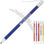 Plunger action mechanical lead pencil with refillable .5mm lead.