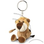 Plush Animal Lion Keychain