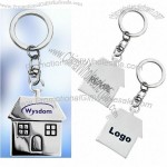 Polished Chrome Key Tags - House Shaped