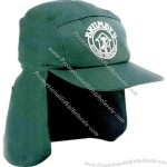 Poly cotton cap with plastic strap,