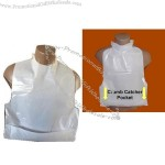 Poly Disposable Adult Bibs with Tie Neck Closure