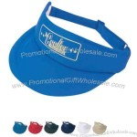 Poly foam visor with 100% polyester.