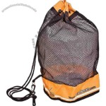 "Polyester Barrel Mesh Drawstring Bag, 12"" X 17"""