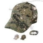 Polyester/cotton twill digital camo cap with mesh back