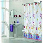 Polyester Satin Shower Curtains with Metal Eyelets Bottom Weight and Self-fabric Rings