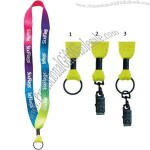 Polyester Tie-Dye Customized Lanyard w/Metal Crimp and Split Ring