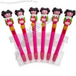 Polymer clay colorful cute shape ballpoint pen.