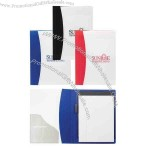 """Polypropylene padfolio with white cover and 6 1/2"""" x 9"""" memo book"""