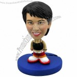 Polyresin Female In Black Shirt And Red Pants Bobblehead