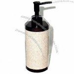 Polyresin Lotion Bottle Hard Painted with Sand Style