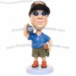 Polyresin Videographer With Camera Bobblehead