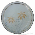 Porcelain 10.5-inch Plate with Elegant Design