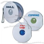 Portable Compact Brushed Aluminum CD Case With 10 CD Capacity