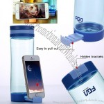 Portable Cup Water Bottle with Cell Phone Holder
