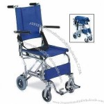 Portable Wheelchair with Aluminum Chair Frame and Foldable Backrest