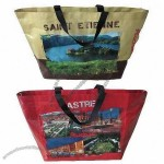 PP Woven Laminated Shopping Bag with Full Colors Imprint Logo
