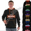 Premium fleece cover stitch hooded sweatshirt made of cotton/polyester