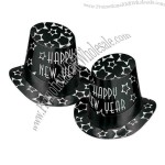 Printed foil black and silver Happy New Year hi-hat